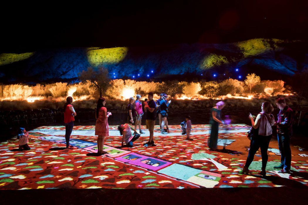 Parrtjima, a festival in light alice springs desert park