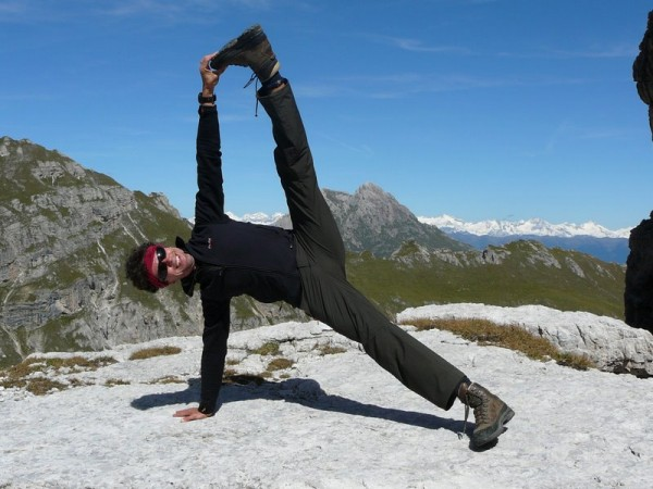 yoga in the dolomites