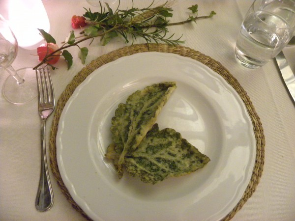 appetizer fried sage leaves