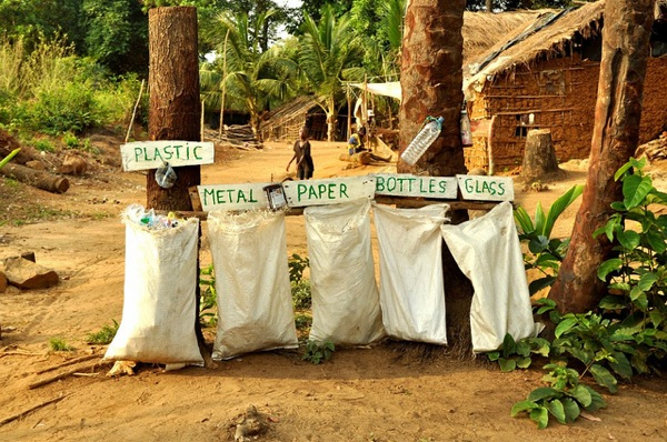Recycling at an ecolodge