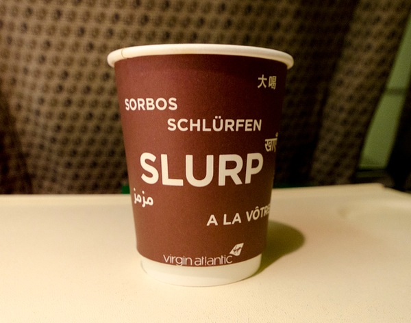 Virgin atlantic recylable cup