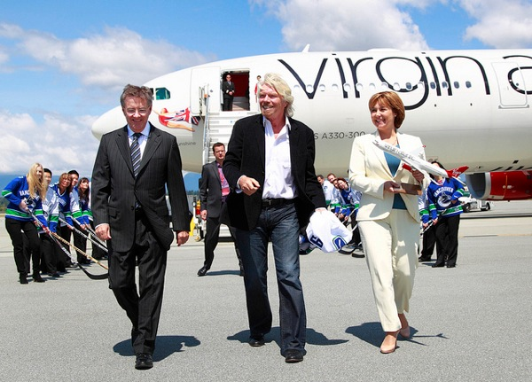 Virgin atlantic richard branson
