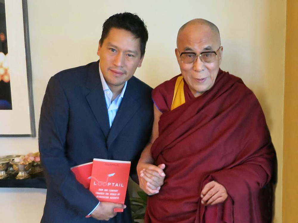 Bruce Poon Tip and dalai lama