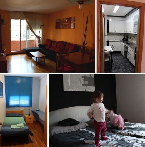 Our rental apartment in 2013 in Barcelona. It was in Parallel, which was close enough to the centre to be able to walk everywhere, but far enough away in a residential area to be quiet. A good night's sleep is essential with kids.