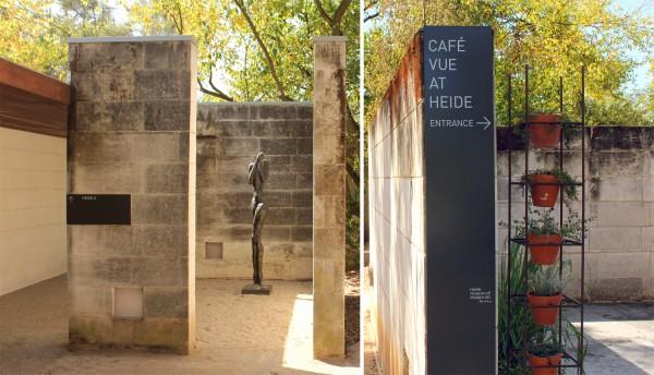 entrance to cafe vue heide