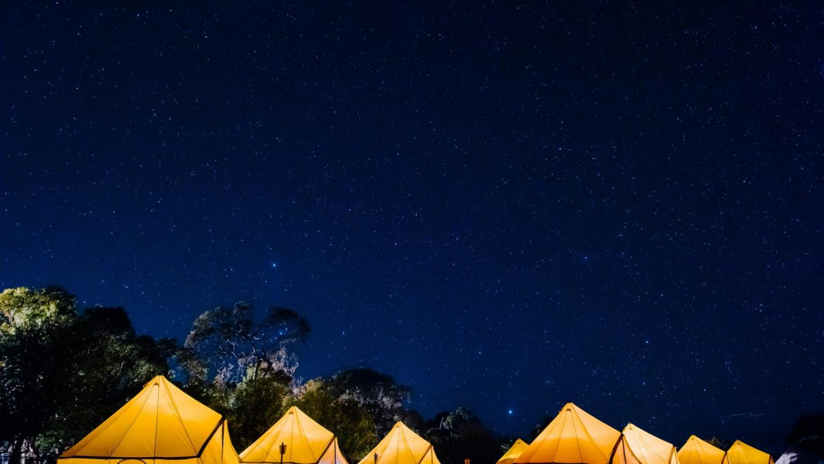 Sleep under the stars and listen out for the lions at nearby Werribee Open Range Zoo.